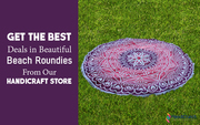 Mesmerizing round beach towel
